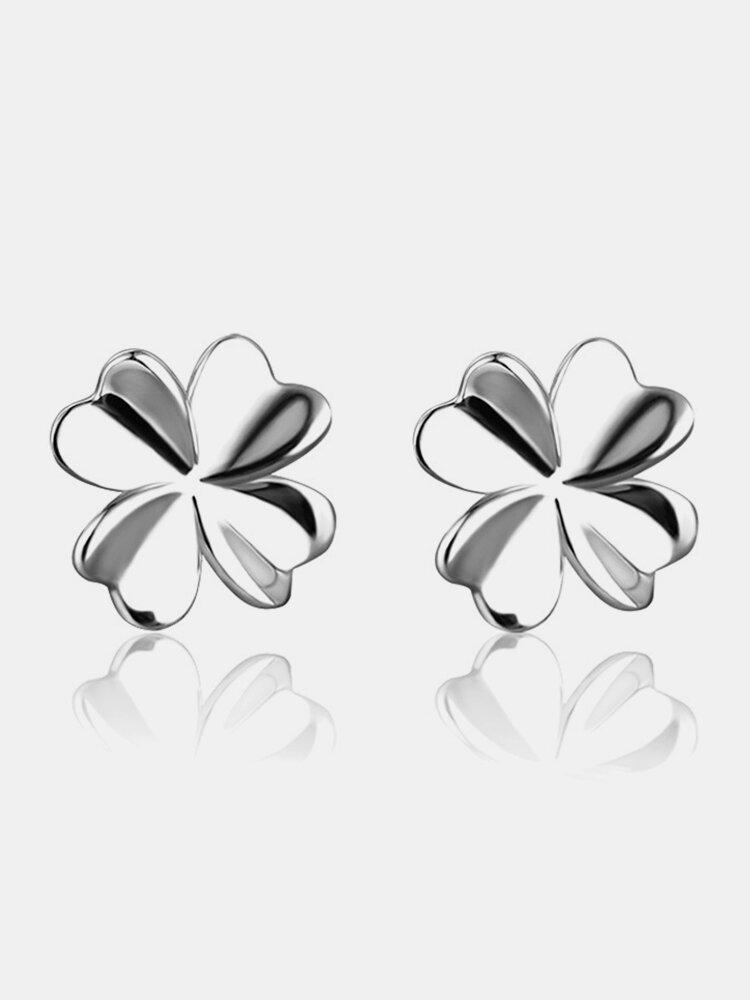 925 Sterling Silver Lovely Flower Earrings