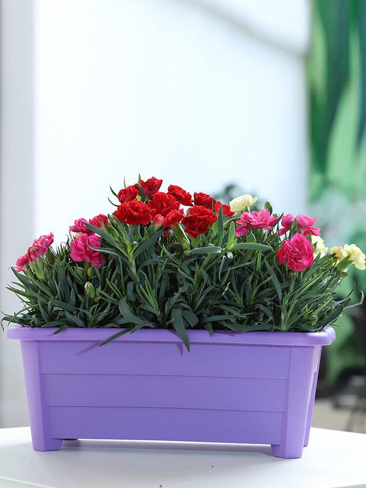 木製の溝植木鉢ガーデニング装飾樹脂植木鉢長方形のプラスチックポット