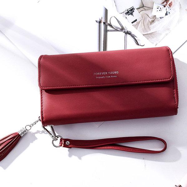 Women Stylish Trifold Long Wallet Clutch Bags Purse Multi-slots Card Holder