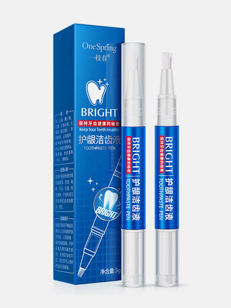 Teeth Brightening Pen Remove Tooth Stains Yellow Teeth Smoked Tartar Oral Care Soft Brush Teeth Care