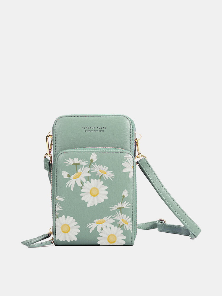 Mulheres Daisy Clutch Bolsa Cartão Bolsa Telefone Bolsa Crossbody Bolsa