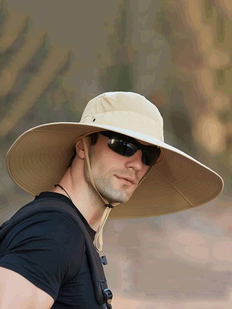 Increase The Hat Men's Fisherman Hat Waterproof Outdoor Sun Hat Sunscreen Mountaineering Hat