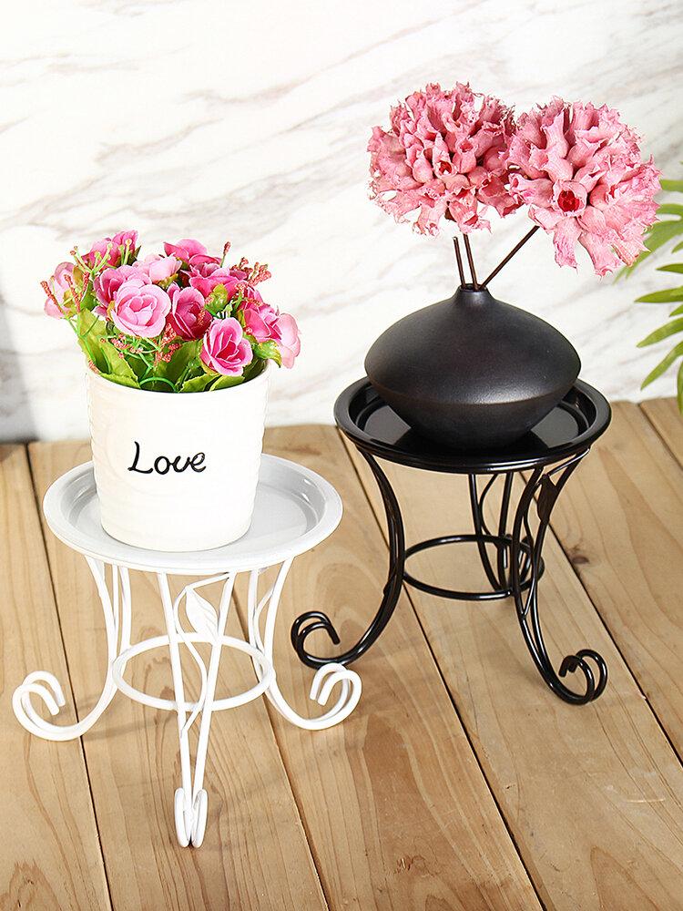 Support de fleur de jardin de pot de pot de fleur de jardin d'intérieur d'intérieur extérieur de support de fer forgé
