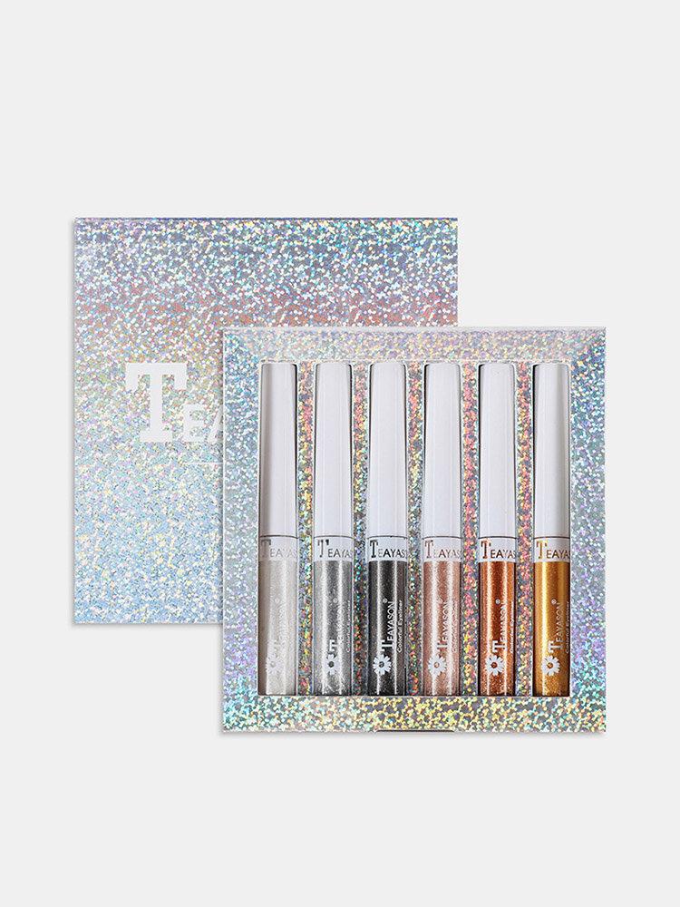 6 Colors High Gloss Eyeliner Liquid Eyeliner Pen Waterproof Quick Dry No Blooming Pearly Eye Makeup