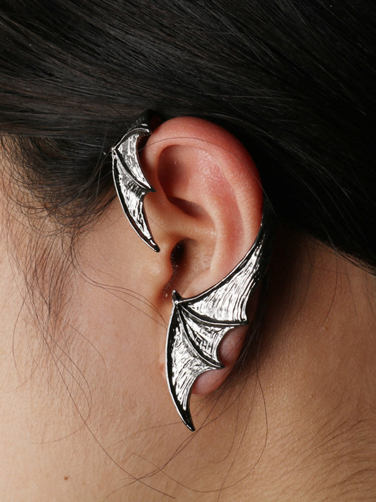 Three-dimensional Metal Bat-Shaped Ear Hook Vintage Animal-Shape Earrings