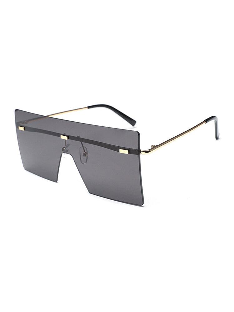 Women and Man Square Glasses Fashion Solid Color Gradient Transparent Sunglasses