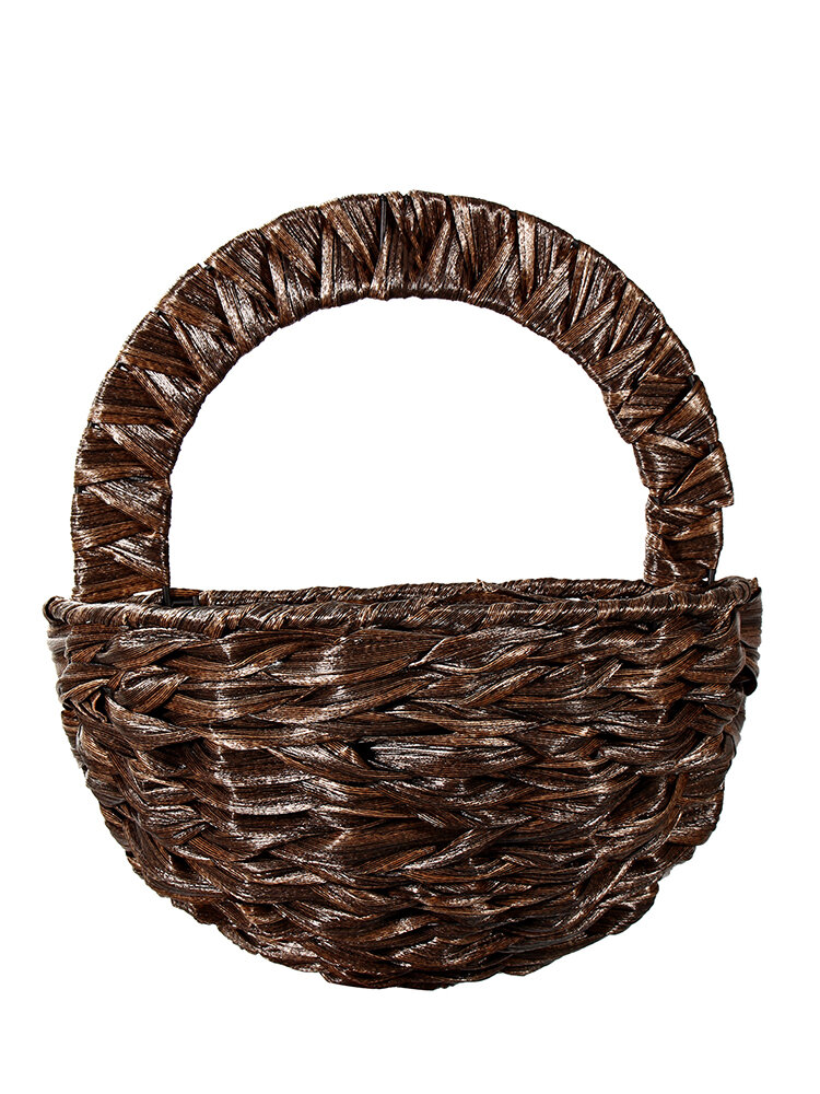 Wall Hanging Flower Basket Decoration  Willow Strips Wall Hanging Flower Vase Home Decorative Craft