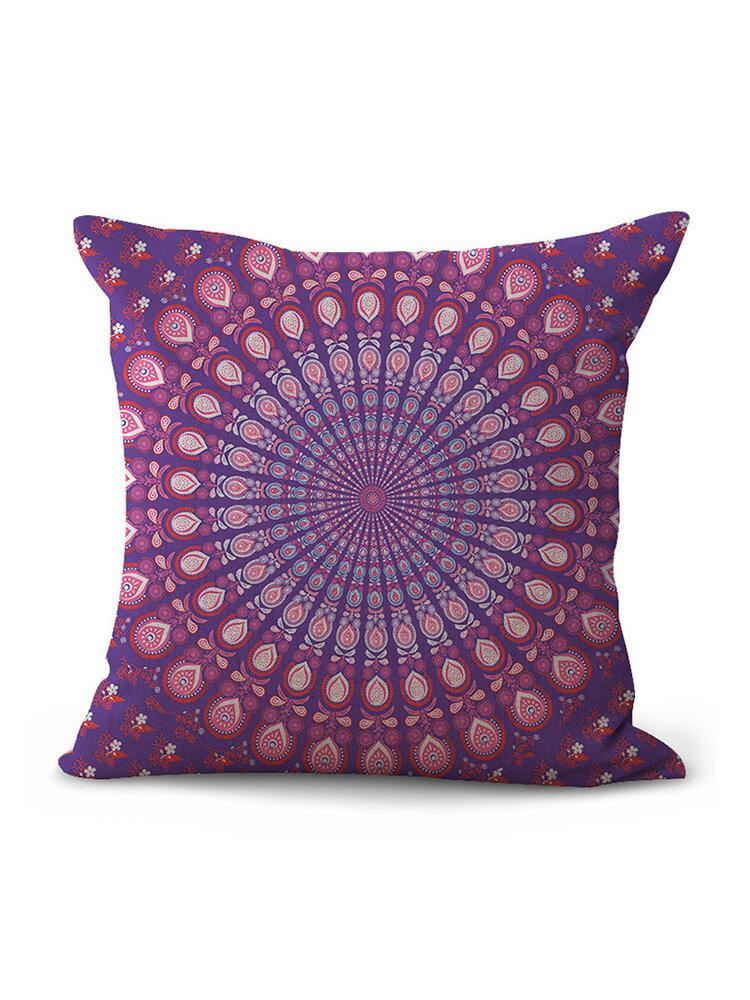 Mandala Polyester Cushion Cover Bohemian Geometric Elephant Pillow Case Home Decorative