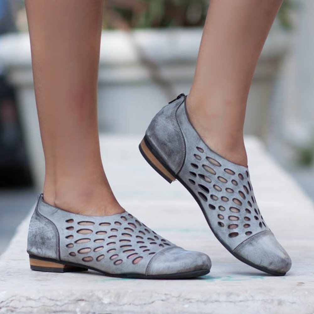 Big_Size_Women_Casual_Comfy_Breathable_Hollow_Out_Pointed_Toe_Zipper_Flat_Shoes