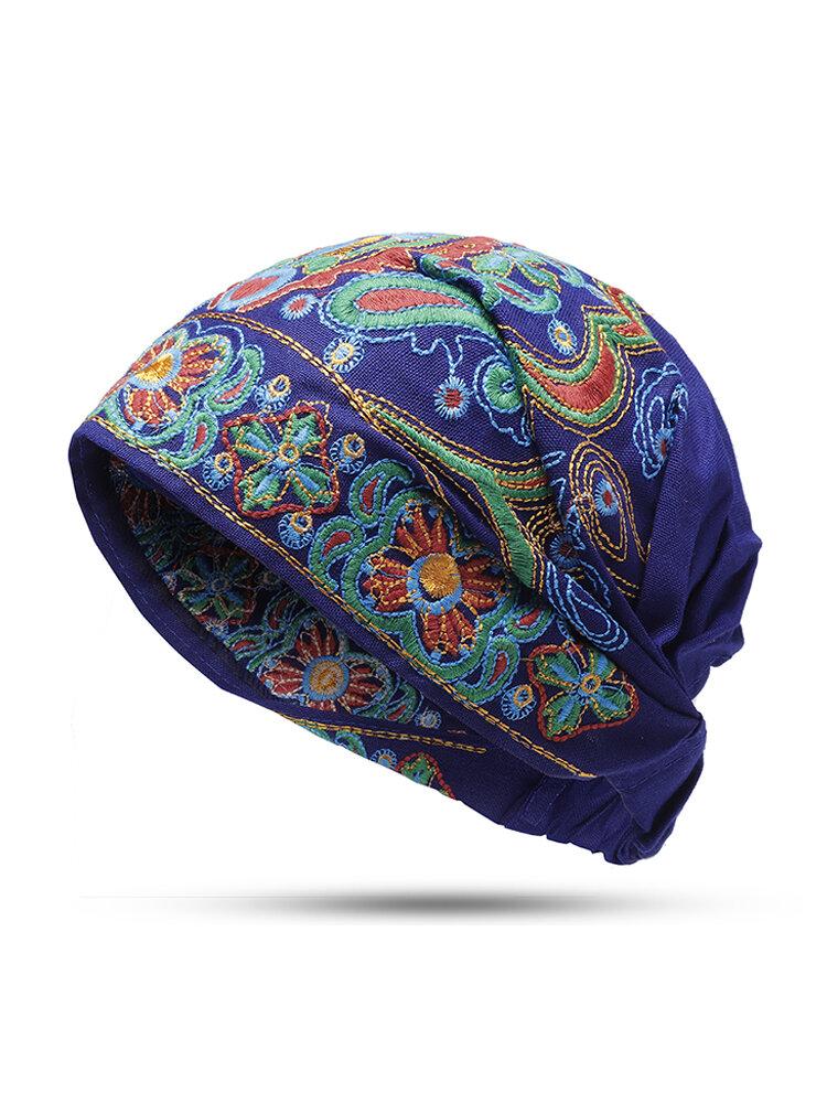 Женская винтажная бини-шапка из хлопка