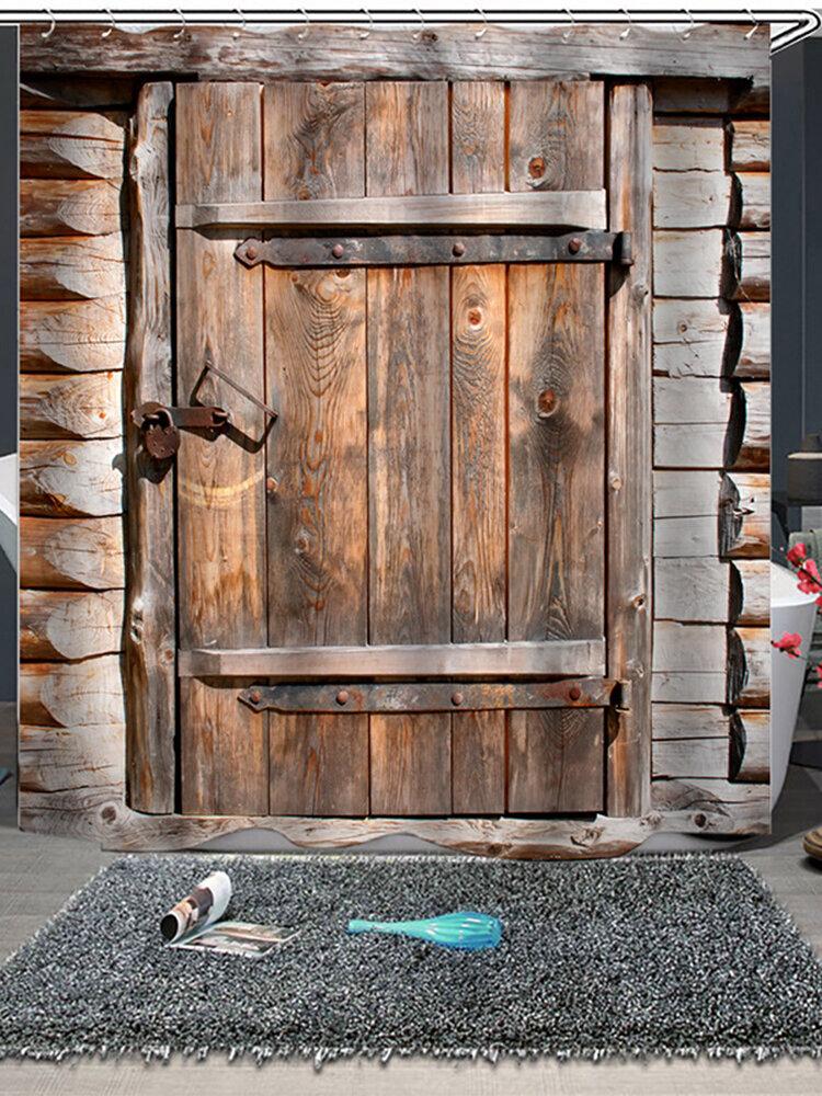 Porte en bois ferme décor de luxe rideau de douche Cortinas Ducha livraison directe rideau de bain imperméable