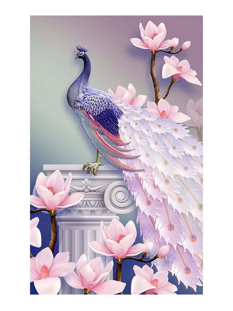 孔雀DIY 5Dダイヤモンド刺繍絵画クロスステッチクラフト家の壁の装飾