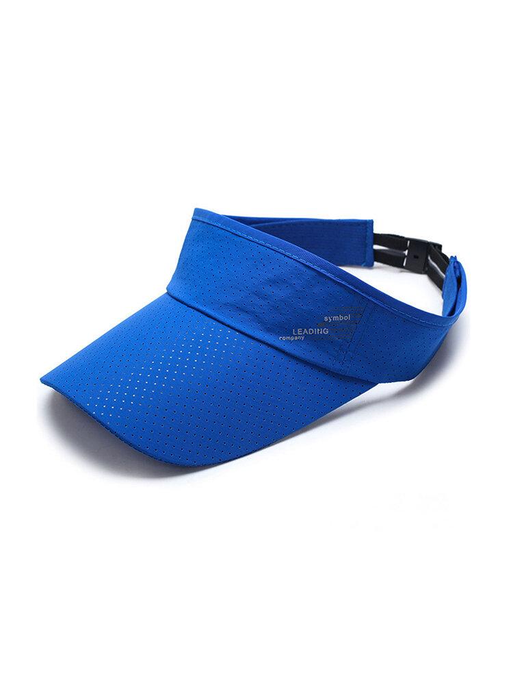 Men Women Empty Top Wide Brim Quick-Drying Adjustable Star Light Pattern Casual Beret Cap