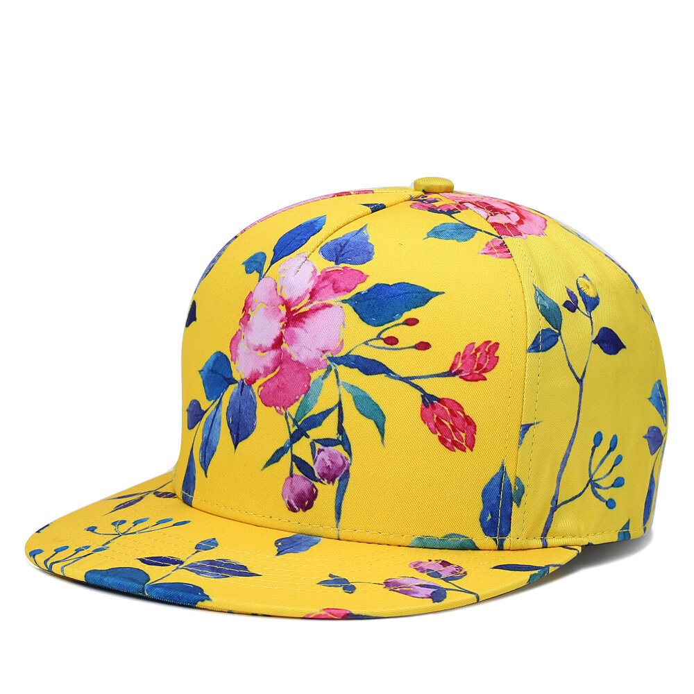 NUZADA Unisex China Style Peony Lotus Pattern High-Quality Cotton Adjustable Fashion Baseball Cap