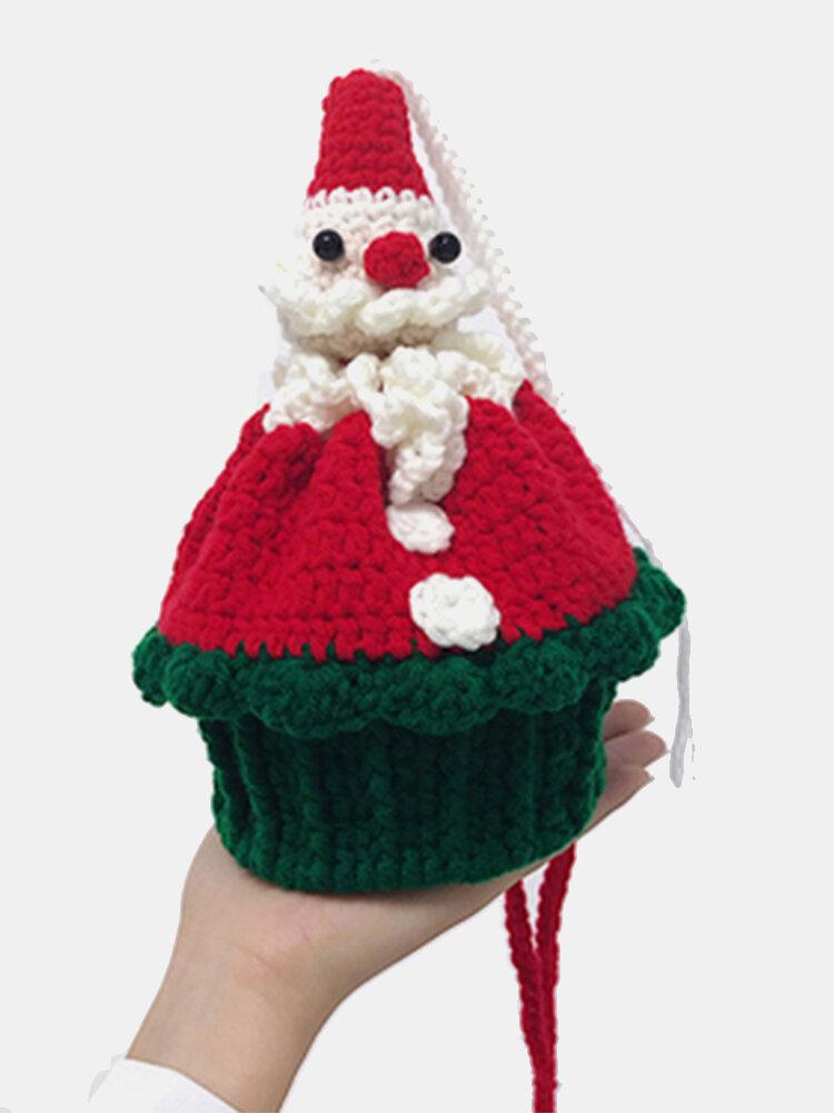 Women Handmade Christmas Wool Crossbody Bag Phone Bag