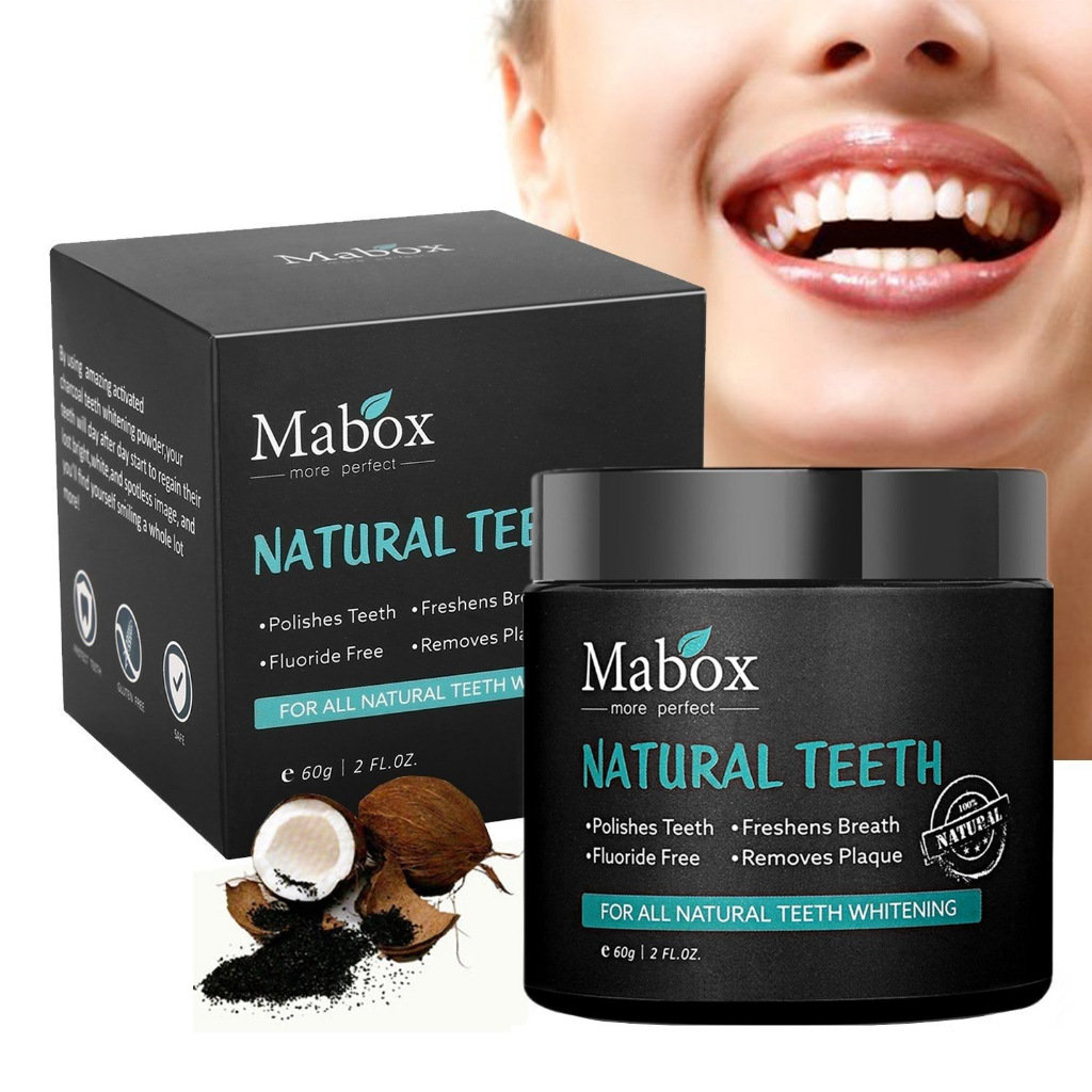 Natural Teeth Whitening Powder Activated Bamboo Charcoal Smoke Coffee Tooth Stain Cleaner