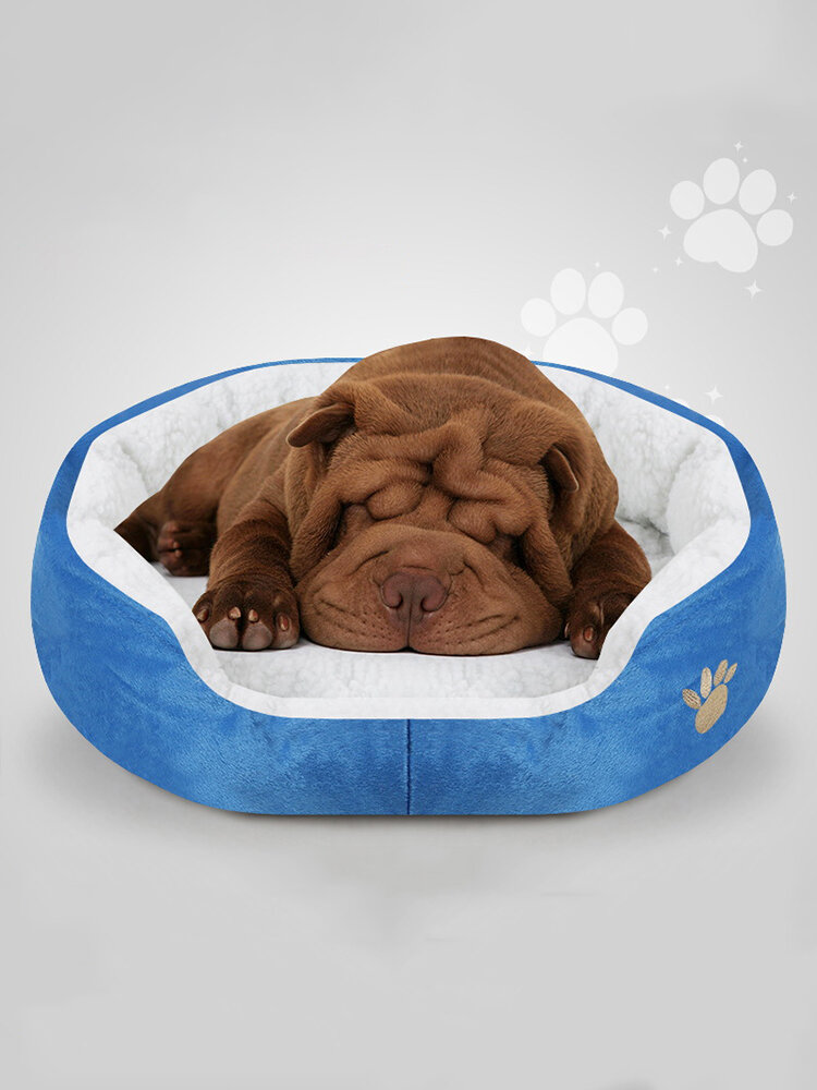 6 Colors Shearling Fleece Pet Kennel Dog Cat Warm Round Kennel