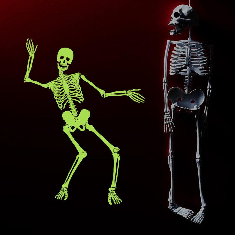 Night Light Skeleton Halloween Ghost House Corner of The Night Light Wall Stickers
