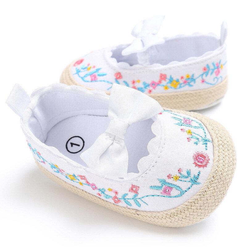 Blumenstickerei Baby Mädchen Wohnungen Schuhe für 0-24M