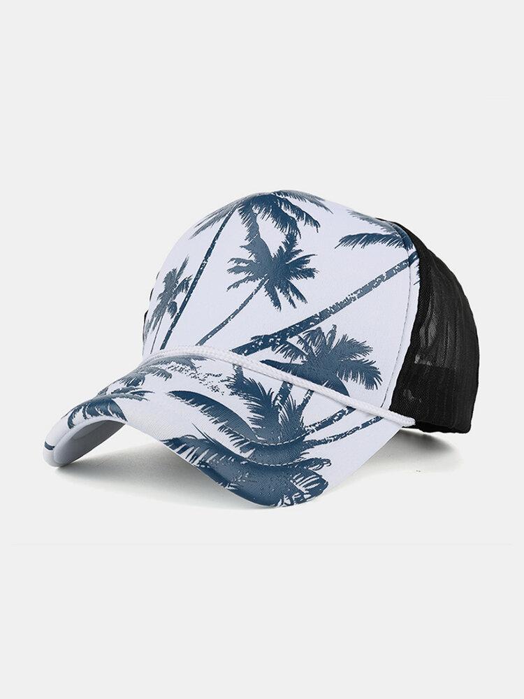 Men's Breathable Adjustable Polyester Mesh Cap Hip Hop Hat Outdoor Sports Climbing Baseball Cap