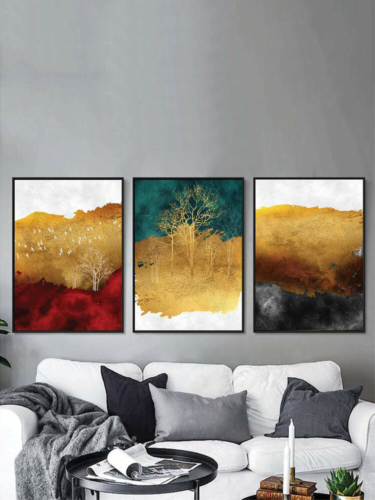 1/3Pcs Autumn Landscape Painting Pattern Canvas Painting Unframed Wall Art Canvas Living Room Home Decor
