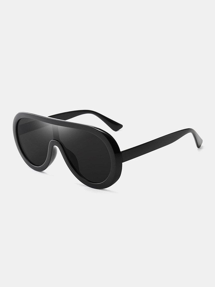 Unisex PC Full Frame Colorful One-piece Lens Anti-UV Goggles Fashion Sunglasses