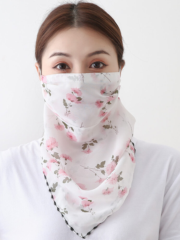 Printing Neck Sunscreen Scarf Mask Breathable Quick-drying Outdoor Riding Mask