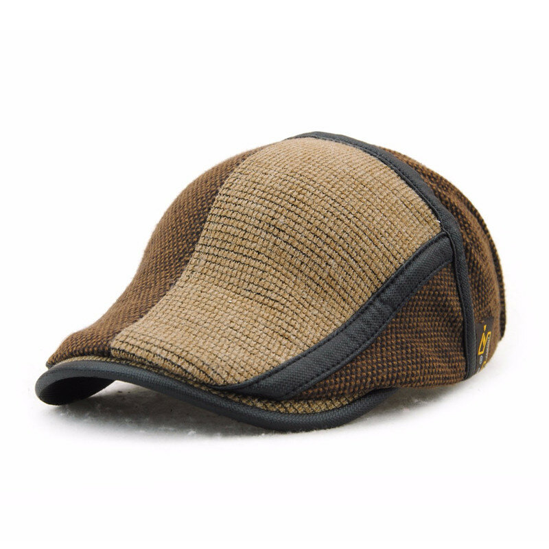 Men Women Cotton Knitting Newsboy Beret Caps Casual Outdoors Peaked Hat