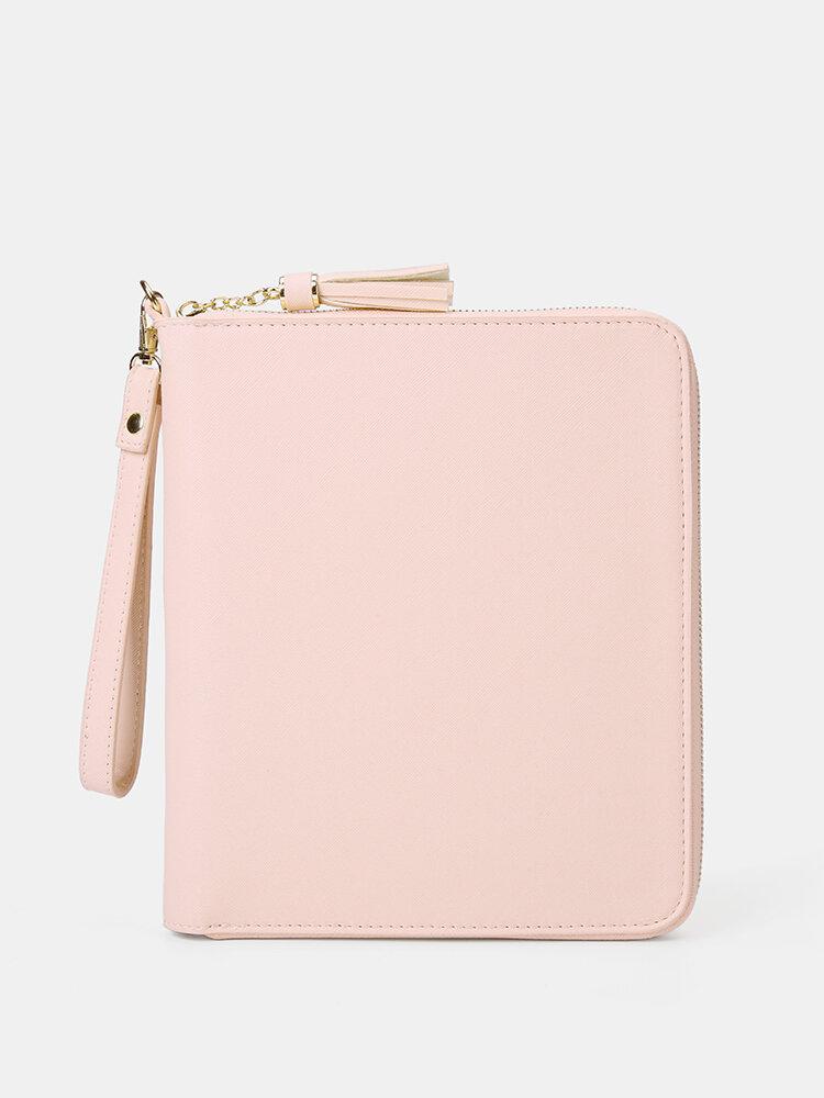महिला मल्टीफ़ंक्शन टैसल 6 कार्ड स्लॉट पेन फोन बैग क्लच बैग