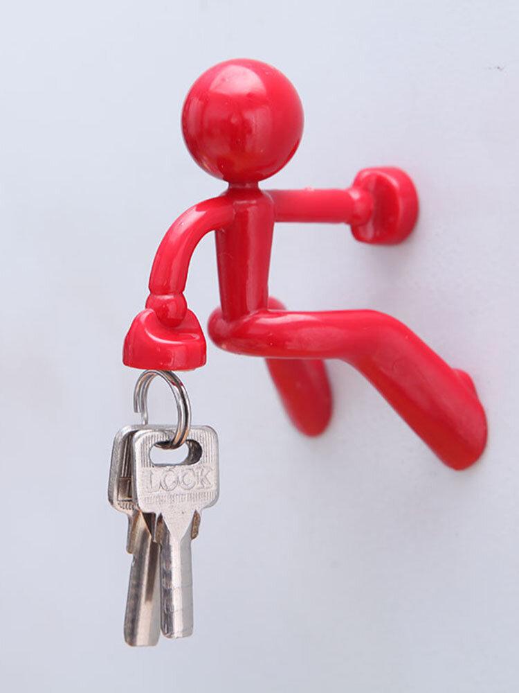 1 PC Creative Home Cute Key Hook Cartoon Climbing Wall Refrigerator Magnet Storage Hook Magnetic