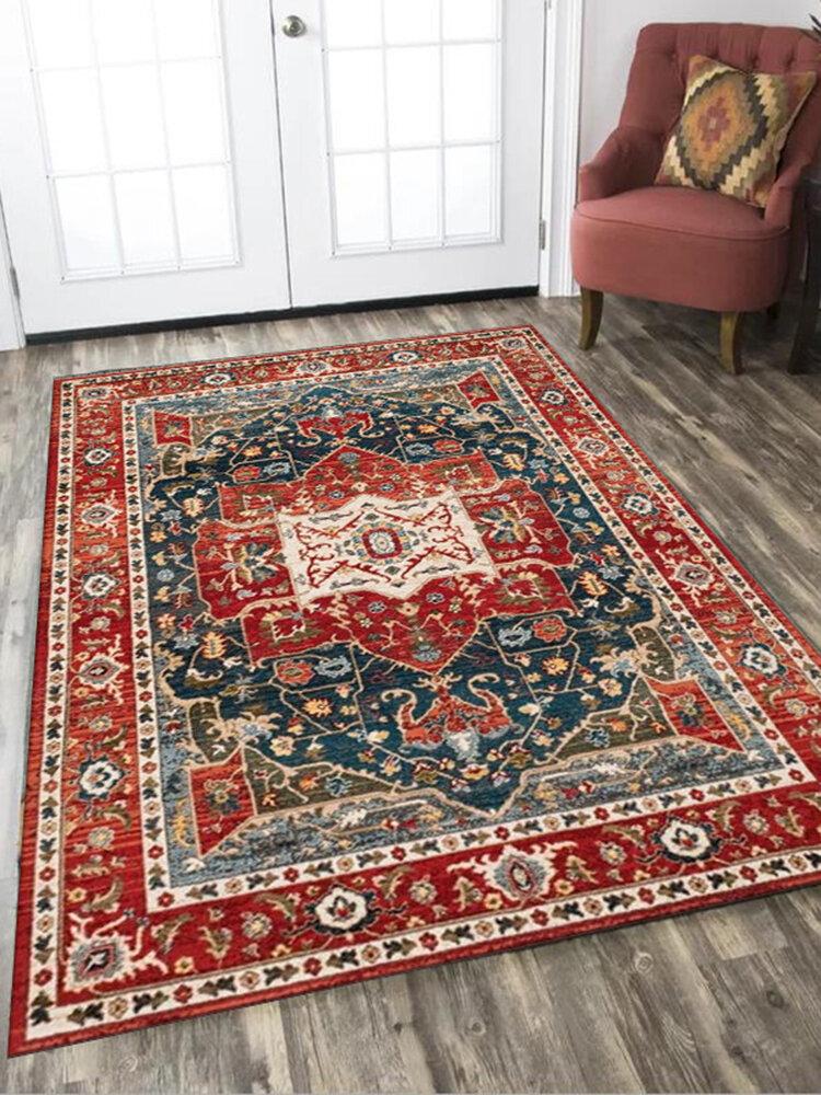 Alfombra marroquí Vintage, sala de estar, dormitorio, decoración de estilo persa, alfombra de área grande, mesa de centro, alfombrilla antideslizante