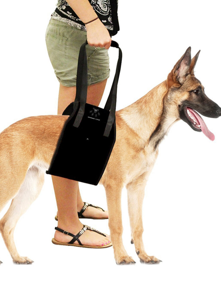 Dog Lift Support Harness for Aid Lifting Older Canine with Handle Injuries Arthritis or Weak Hind
