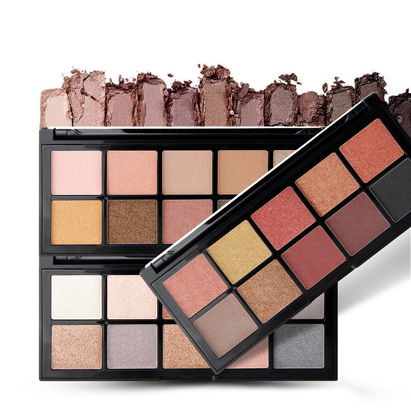 10 Colors Smoky Eye Shadow Palette Shimmer Glitter Color Long-Lasting Eye Shadow Palette