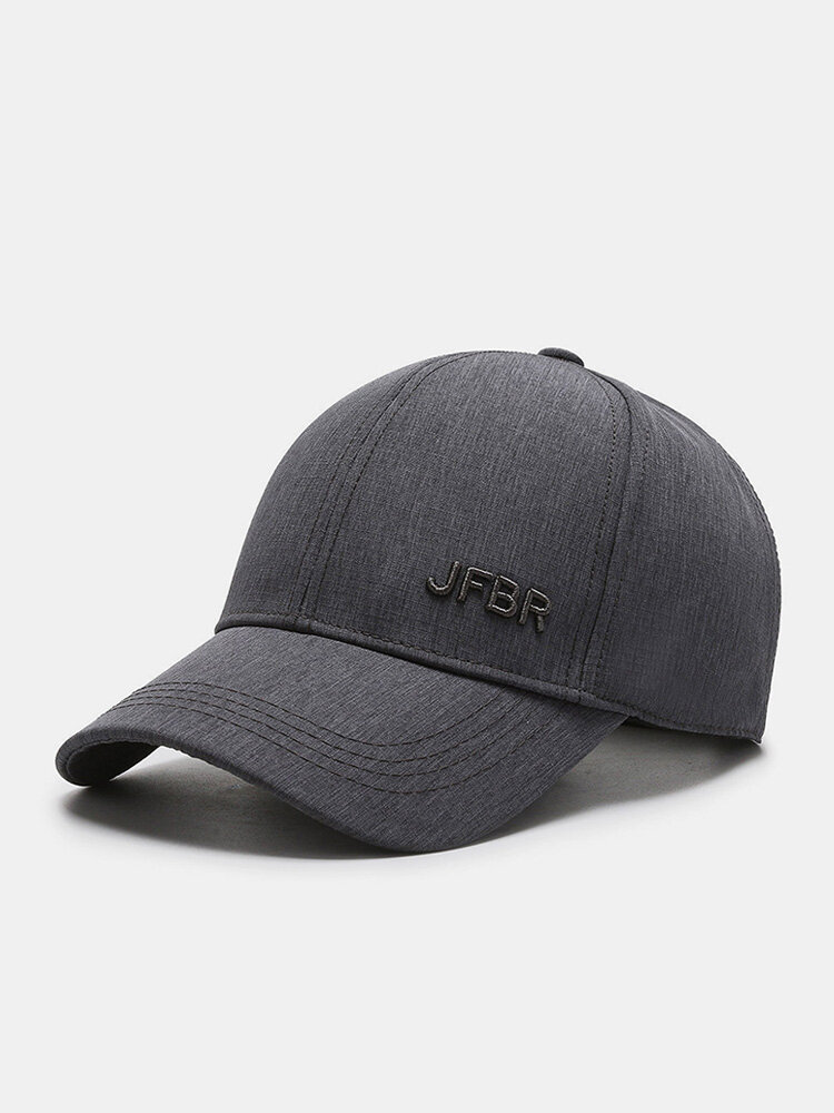 Men Cotton Solid Color Three-dimensional Letter Embroidery Outdoor Casual Sunshade Baseball Cap