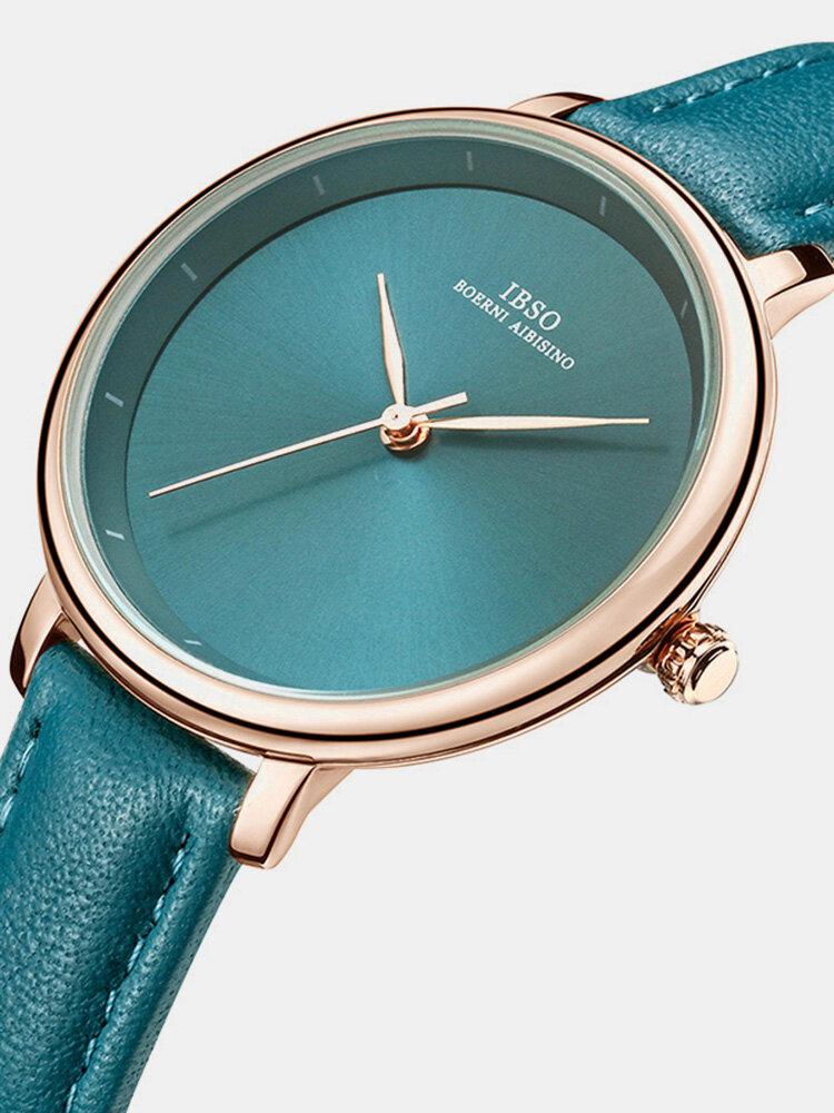 Simple Design Ladies Wrist Watch Business Style Leather Band Quartz Watch
