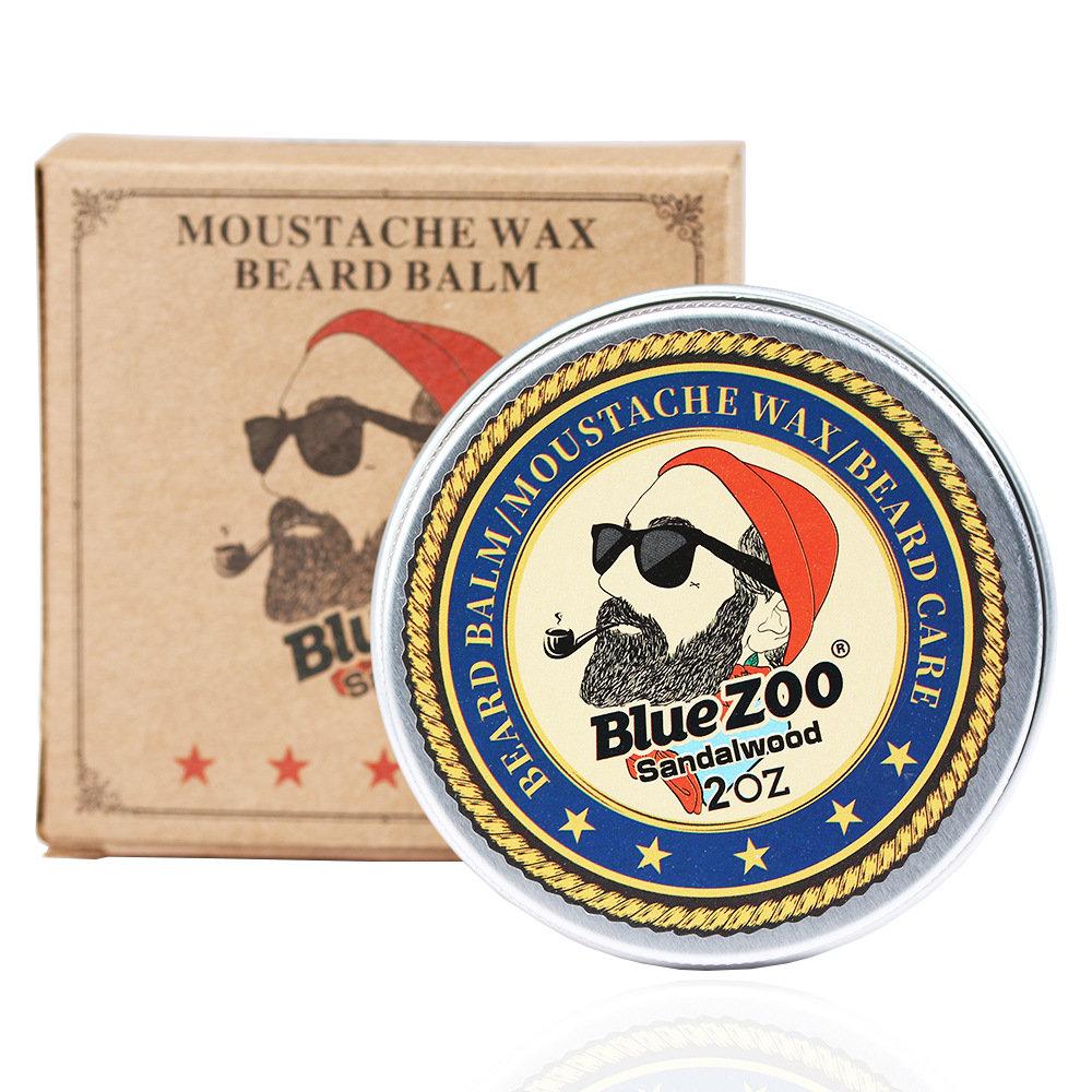 Men's Facial Beard Wax Beard Care Shaving Cream Moisturizing Oil Control Beard Cream