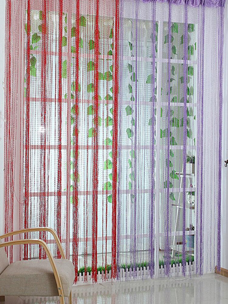 Línea de cuerda Cinta de cortina de puerta Separador de ambientes Panel de ventana Franja Borla con cuentas