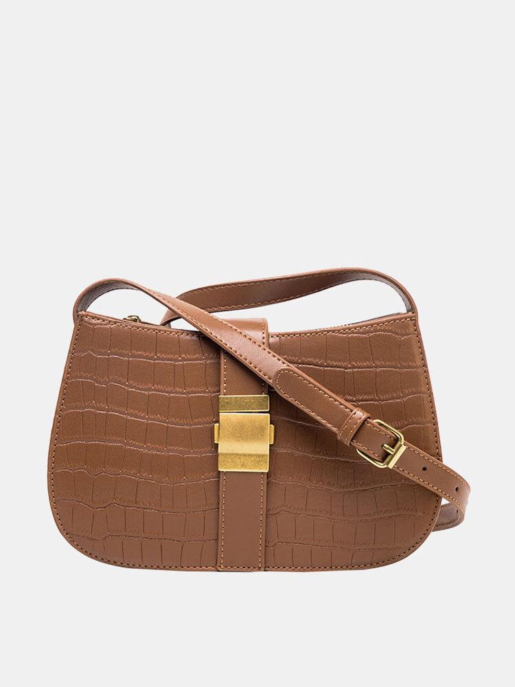 Women Casual Alligator Crossbody Bag