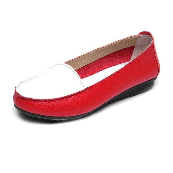 Women Casual Color Matching Flat Shoes Non Slip Loafers