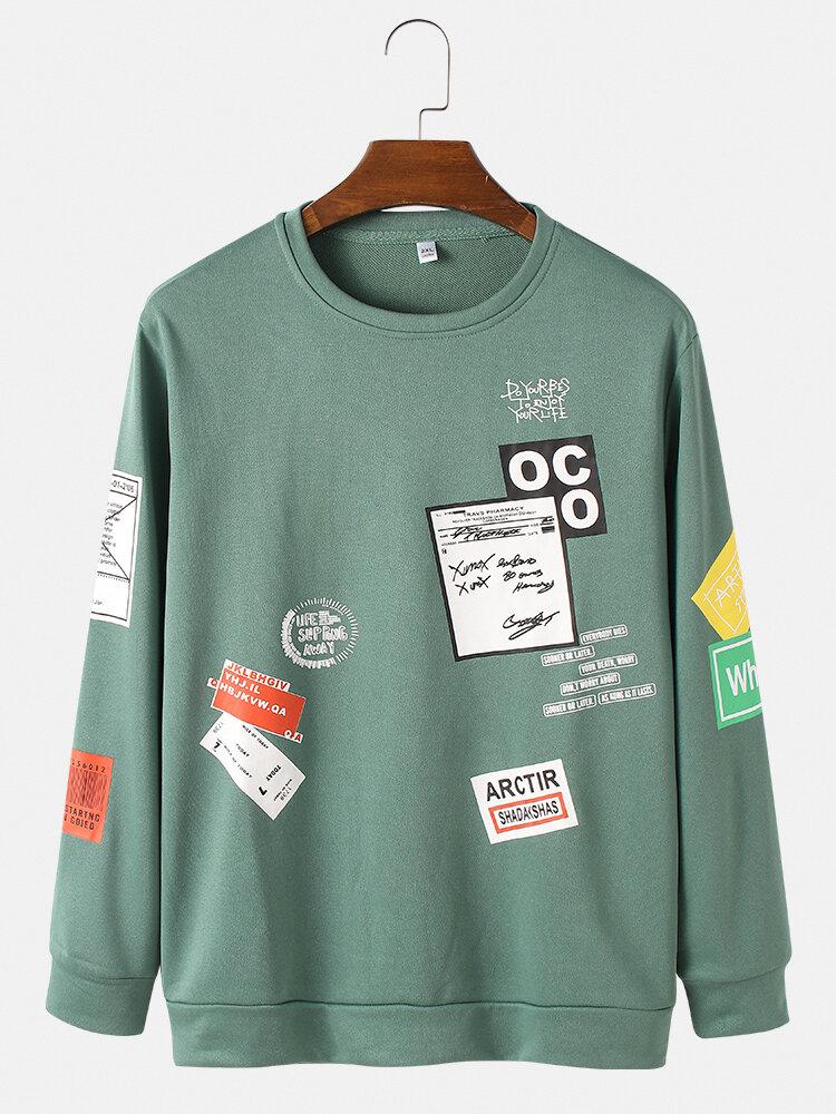 Sweat-shirt à ourlet élastiques - Newchic - Modalova