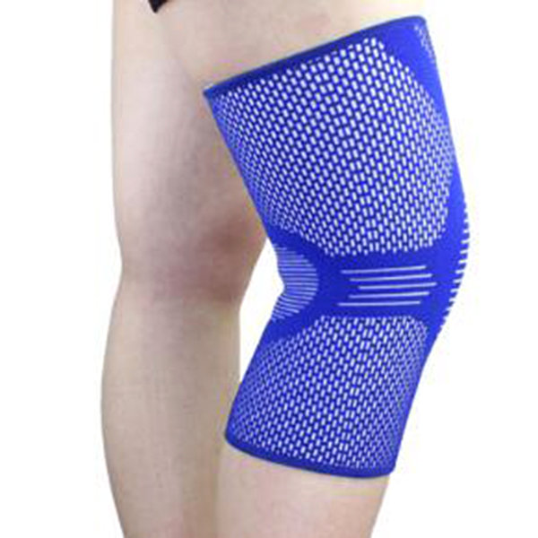 1 Piece Mens Knee Protector High Elasticity Breathable Nylon Knee Pads Basketball Sport Knee Support