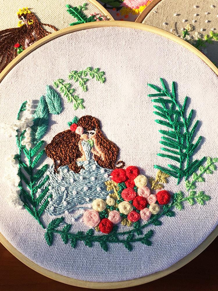 Princesse imprimée européenne bricolage Kits de broderie à la main Art couture Kitting paquet maison Art décor