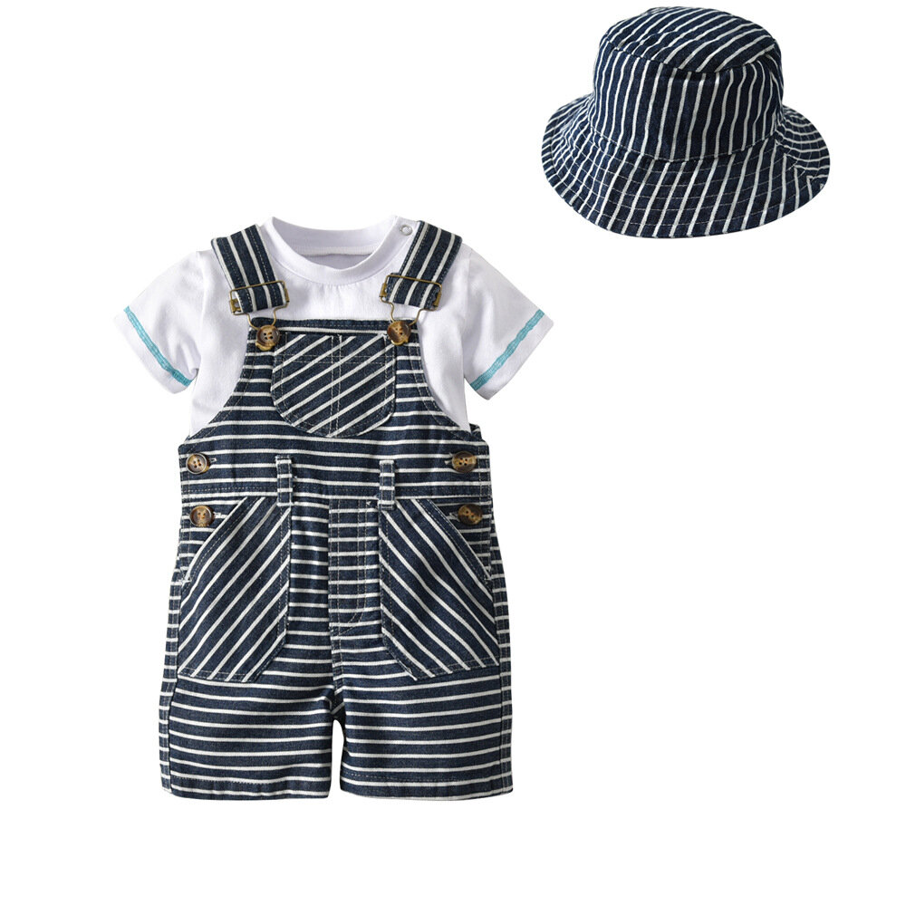 Newborn Baby Girls SetsTop Rompers Long Pants Hat Outfits Clothes Clothing Suits