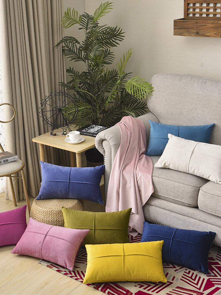 Solid Color Velvet Cushion Waist Pillowcase Nordic Home Long Waist Pillowcase