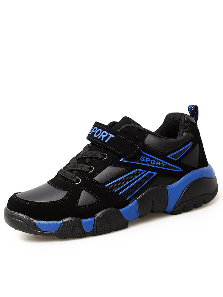Men Sport Splicing Microfiber Leather Comfy Wearable Casual Sneakers