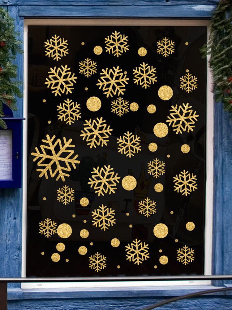 1 шт. Рождественский стикер стены Рождественский колокольчик снежинка стикер украшения стены