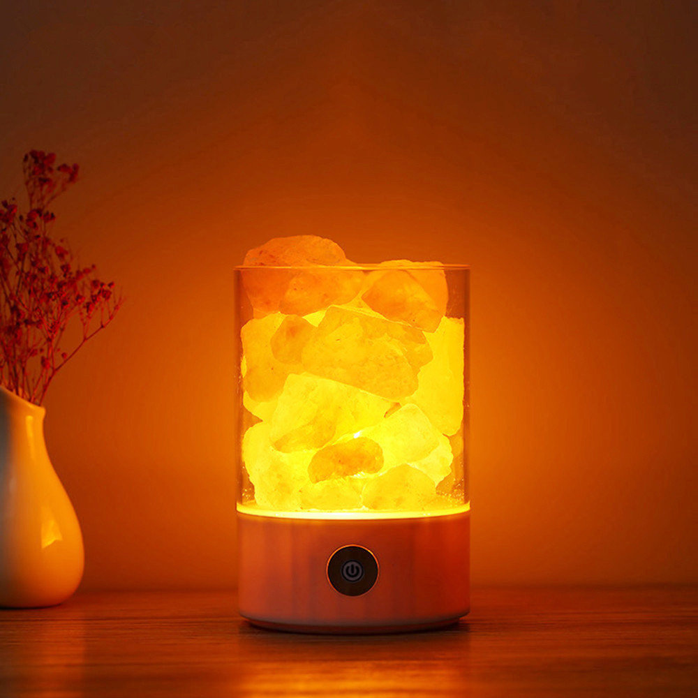 Natürliche Himalaya-Salz Lampe einzigartige Crystal Salze Nachtlicht Hause  Schlafzimmer Beleuchtung Dekor