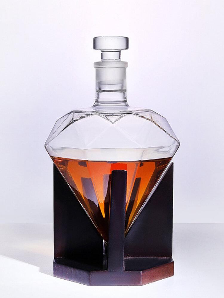 Diamond Decanter Craft Shape Glass White Wine Bottle Diamond Vodka Wine Container