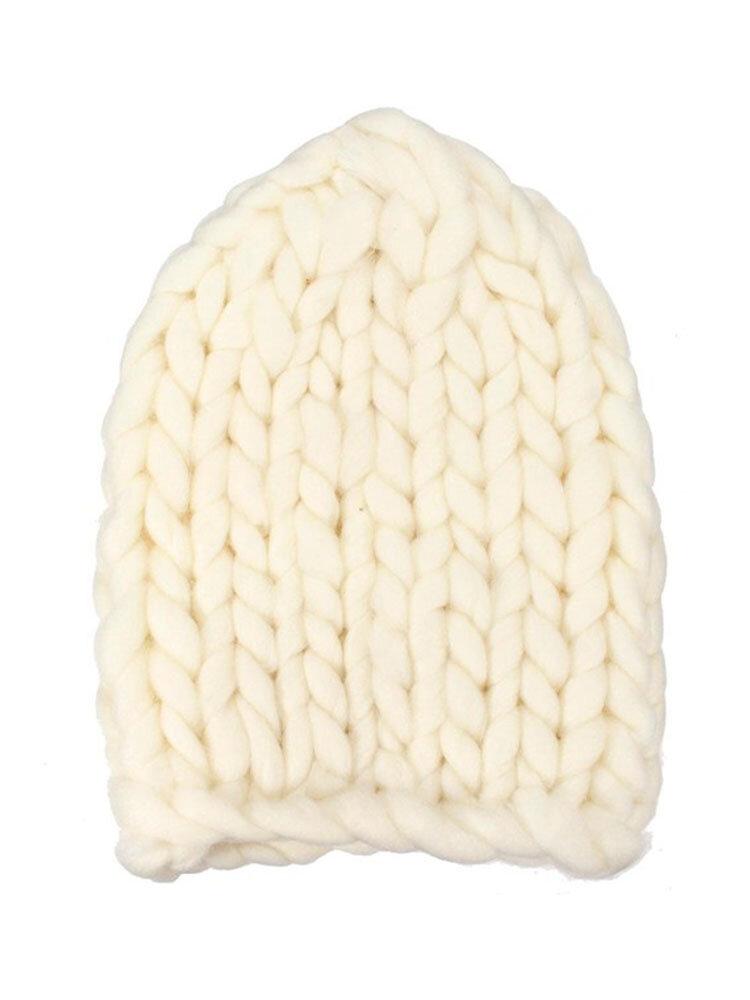 Knit Crochet Gorro Bonnet Dome Cap Chunky Triangle Stereo  Beanie Hat