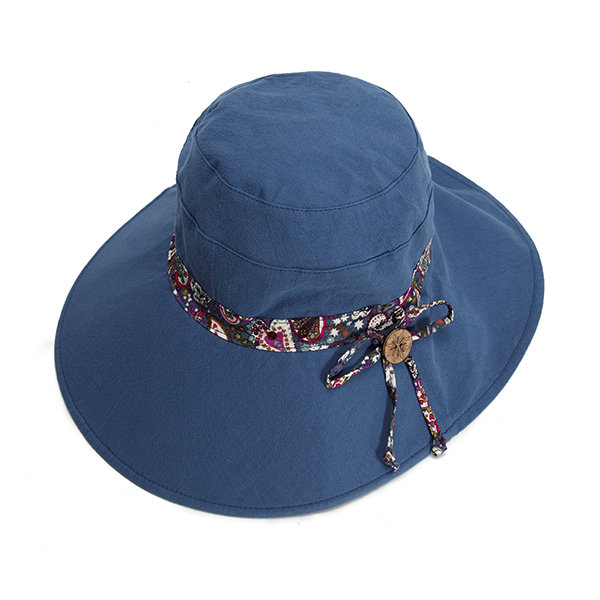 Women Summer Double-sided Wear Sunscreen Bucket Hat Casual Anti-UV Wide Brim Beach Hat